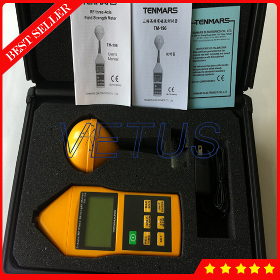 3 Axis Electromagnetic Field Strength Meter with High frequency ...