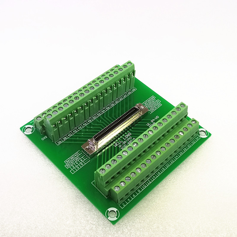все цены на SCSI 68P MDR Female Breakout Board, SCSI Terminal Module. онлайн