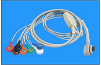 Patient cable for ECG Holter recorder Kenz Cardy 301 Controller, PC 117, 7 leads, 5 leads