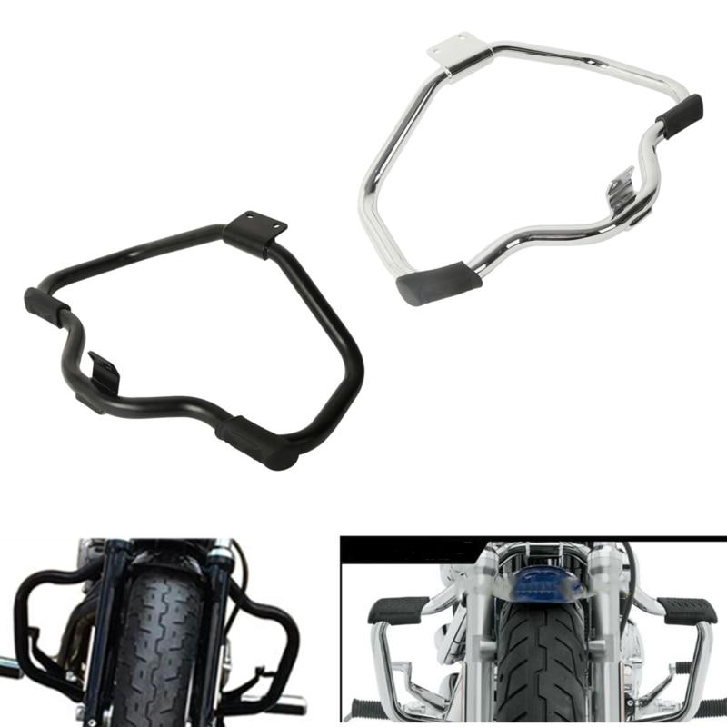 TCMT Black Mustache Engine Guard Cash Bar Fits For Harley Sportster XL883 XL1200 2004-2019