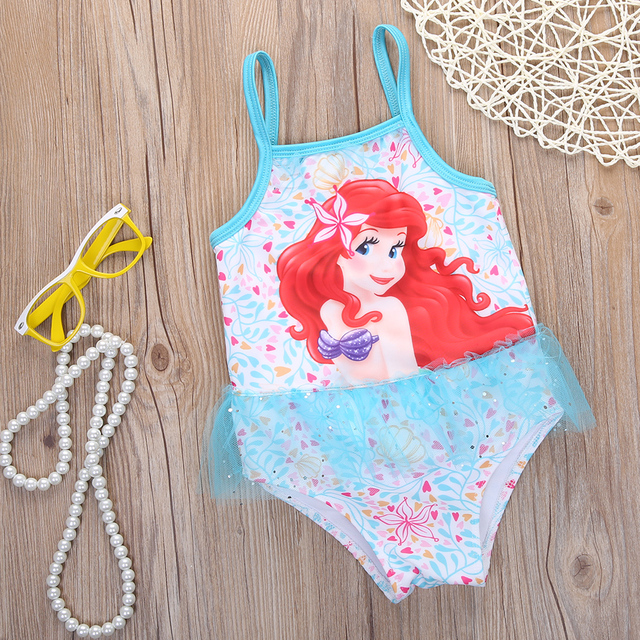 6f7d6539c9f8 NEW summer Sequin Girls Kids Cartoon little Mermaid Swimable Bikini Swimsuit  Swimwear Swimming Costume 2-