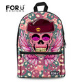 Multicolor Girls Women Canvas Skull Backpack Bags Pink College Student School Knapsack Children Backpack Mochila Escolar