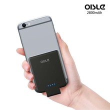 OISLE External Battery Charger 2800mAh Ultra Thin Battery Case High-Speed Charging Technology Power Bank for iPhone 5(s)/6(s)/7