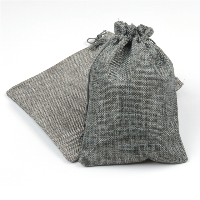 Hessian Linen Rustic Natural Burlap Bags Drawstring Jute Bag Candy Gift Christmas Wedding Favors Packaging Pouches