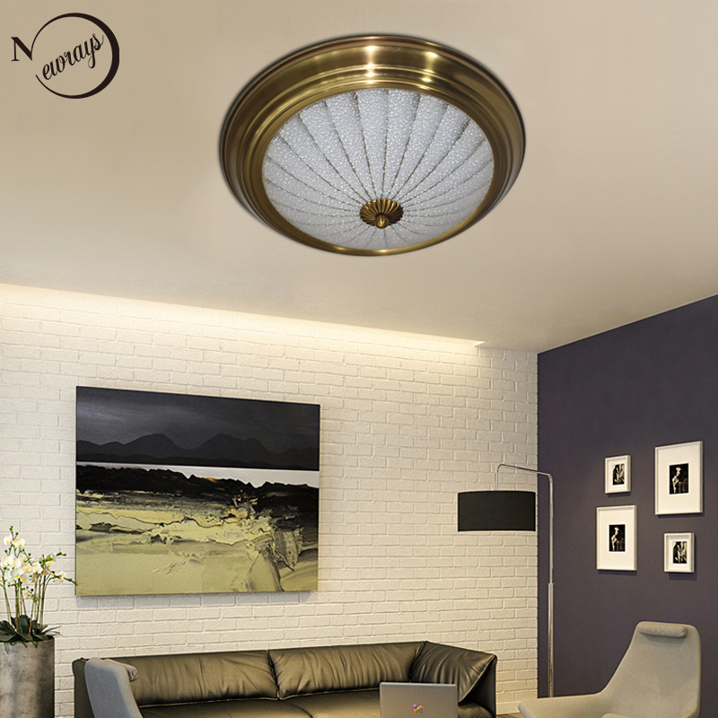 Us 75 07 30 Off Vintage Industry Gold Rust Plated Ceiling Lamp Led 220v Bright Lights For Bedroom Living Room Dining Hotel In