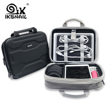 IKSNAIL Capacity Expansion Electronics Travel Camera Lens Storage Bag For USB Cable Charging Cord
