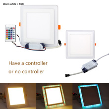 Lamp Indoor Lighting Square Concealed Dual Color LED Panel Light Cool White Lamp Downlight 6W 12W Led Dimmable Downligh