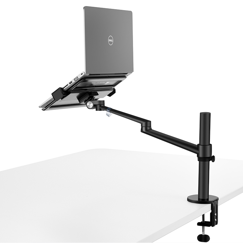 Free Lifting Laptop Stand Aluminum for MacBook Air Pro 12 17 Monitor Riser Holder with Monitor