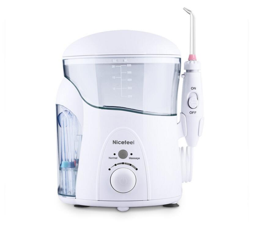 Oral Irrigator Water Flosser UV Sterilizer Dental Care 600ml Support Normal/Massage Mode Stepless Pressure Adjust with 7 Tips portable oral irrigator dental flosser for floss care implement pressure water flosser teeth cleaning tools oral care