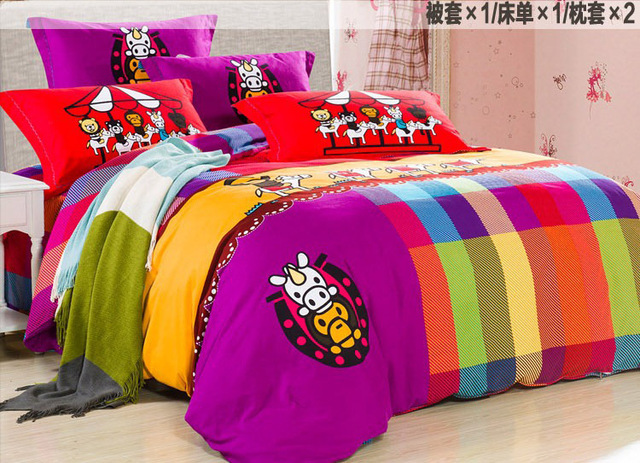 High Quality Quilt Cover Set Brushed Cotton King Queen Size Bed Sheets  Duvet Cover Luxury 3D