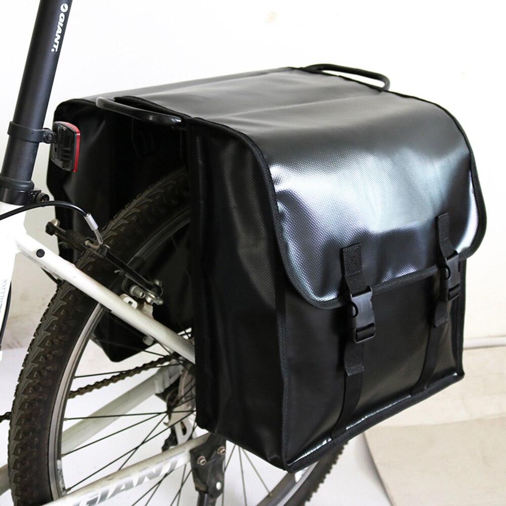 Mountain Bike Bag Posteriore Impermeabile MTB Strada della Bici Della Bicicletta Pannier Coda posteriore Trunk Bag Double Side Ciclismo Bicicletta Cremagliera borsa