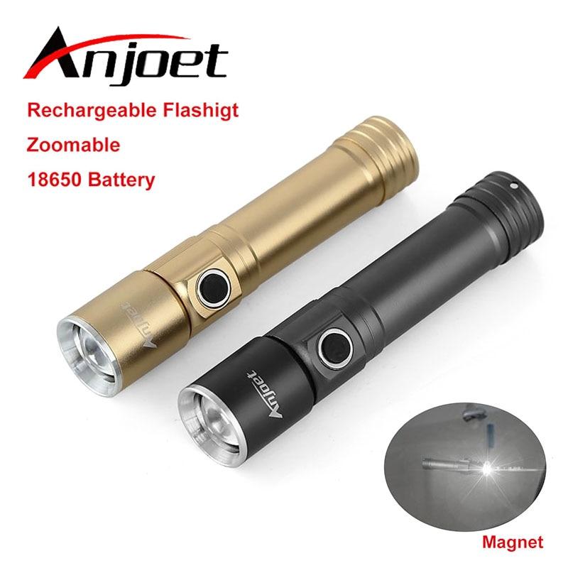 Mini Tactical Flashlight қайта зарядталатын 7W CREE 1000LM су өткізбейтін Lanterna LED 3 режимдері Zoomable Torch 3.7V 18650 аккумуляторлық арна