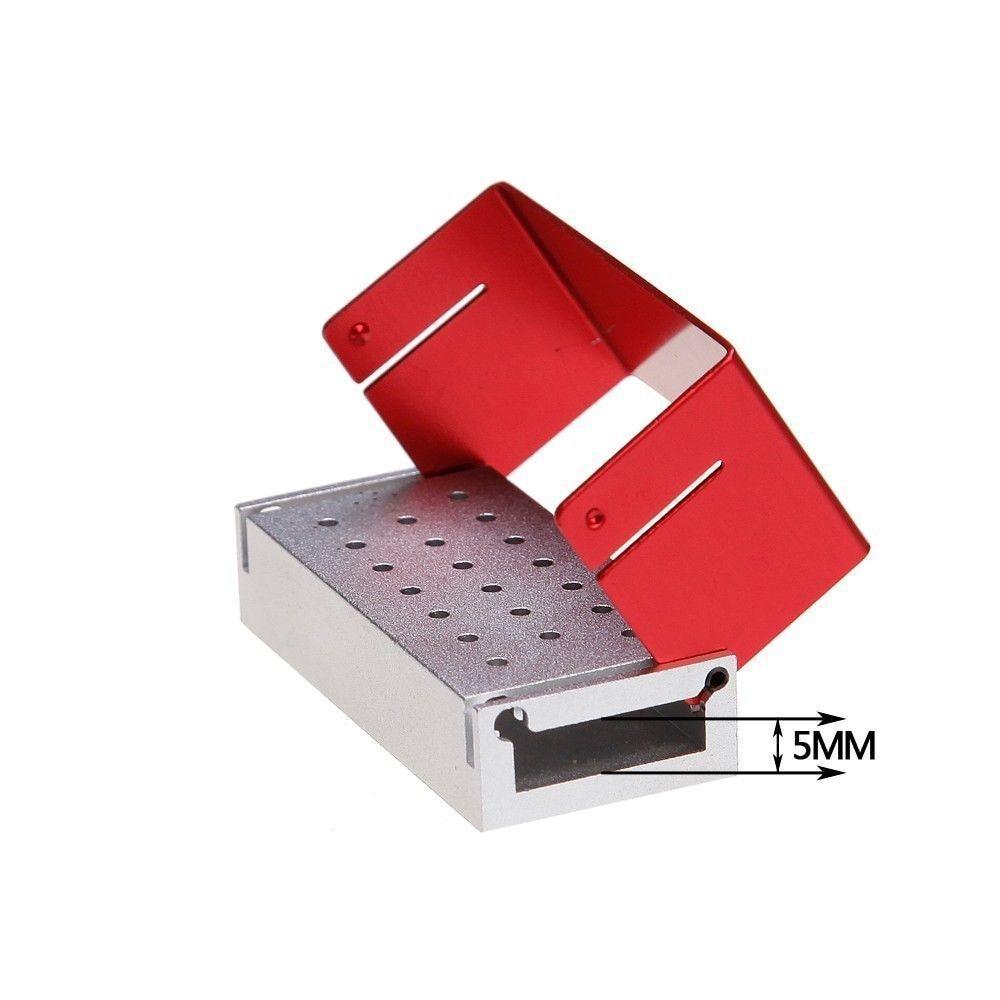 New Dental Burs Halter Desinfektionsbox Block Aluminium 20 Löcher Autoklav Dentallabor