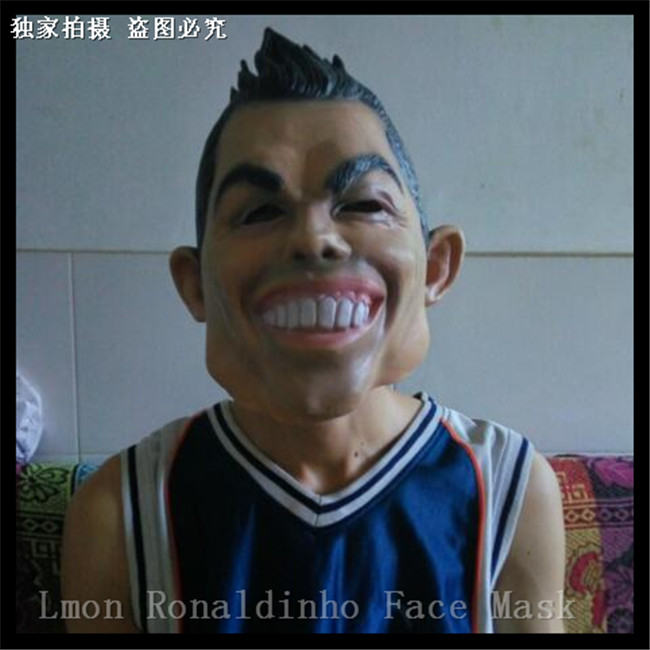halloween figure dance party and masquerade Cosplay Human masks realistic C Ronaldo masks for Female and Male Party Cospaly Toy|ronaldo mask|human mask|mask realistic - title=
