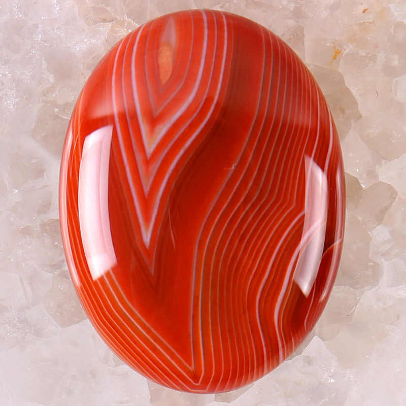 40x30MM 0range Veins Carnelian Stone Oval Cabochon CAB GEM Jewelry Making 1PCS H095