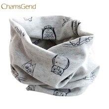 Chamsgend/ дизайн; детский зимний теплый шарф с изображением совы для мальчиков и девочек; шарфы с круглым вырезом; Прямая поставка 160902