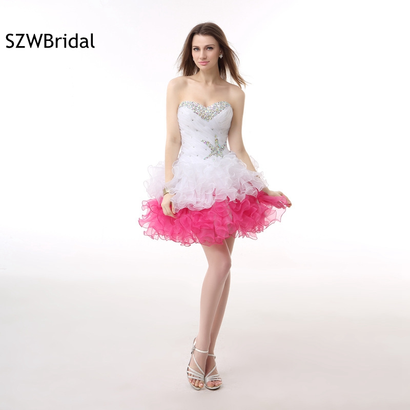 New Arrival Organza Above Knee   Cocktail     dresses   2019 Beaded Crystals vestidos de coctel ever pretty   Cocktail     dress