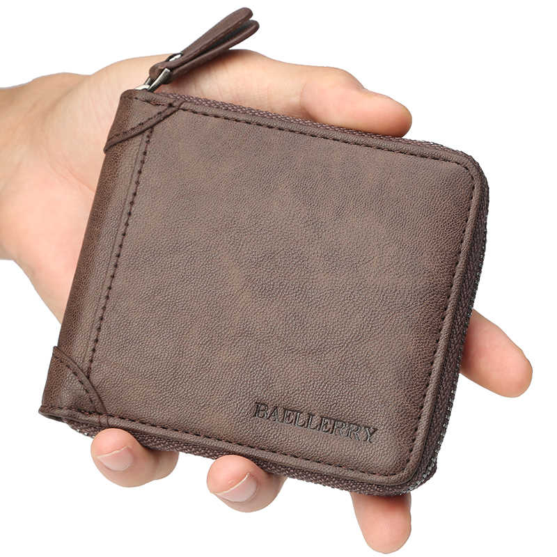 02ae0650fe36 ... New Wallet Male Man Wallets Small Zipper Card Holder With Coin Pocket  PU Leather Purse Men ...