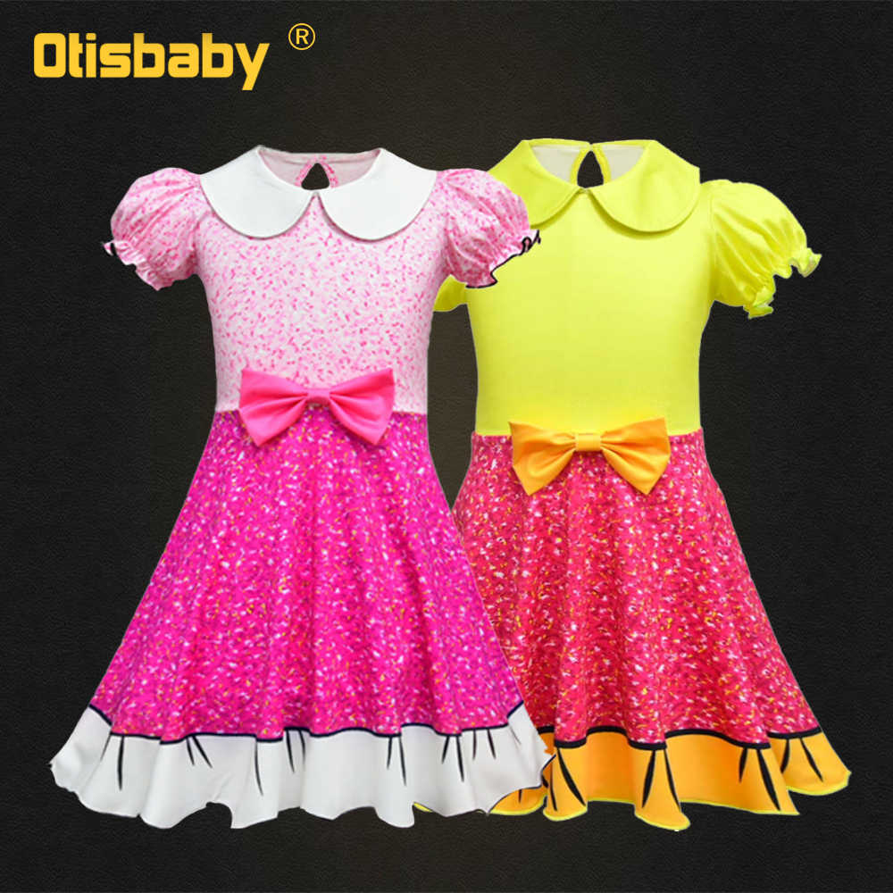6052c264325 Забавное платье для девочек детское цветочное рождественское платье детский  праздничный костюм милая детская одежда для девочек