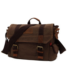 2016 Classic Vintage Travel Canvas Shoulder Crossbody Messenger Bag Durable School Teenager Tablet Handbag