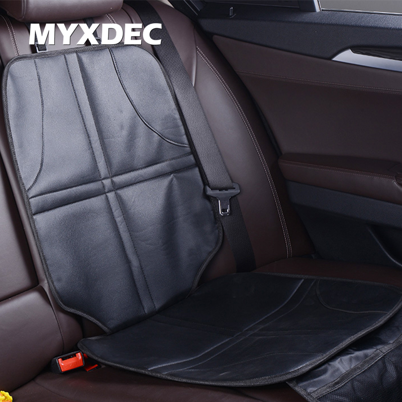 Anti Slip Mat Black Beige Luxury Leather Child Car Seat