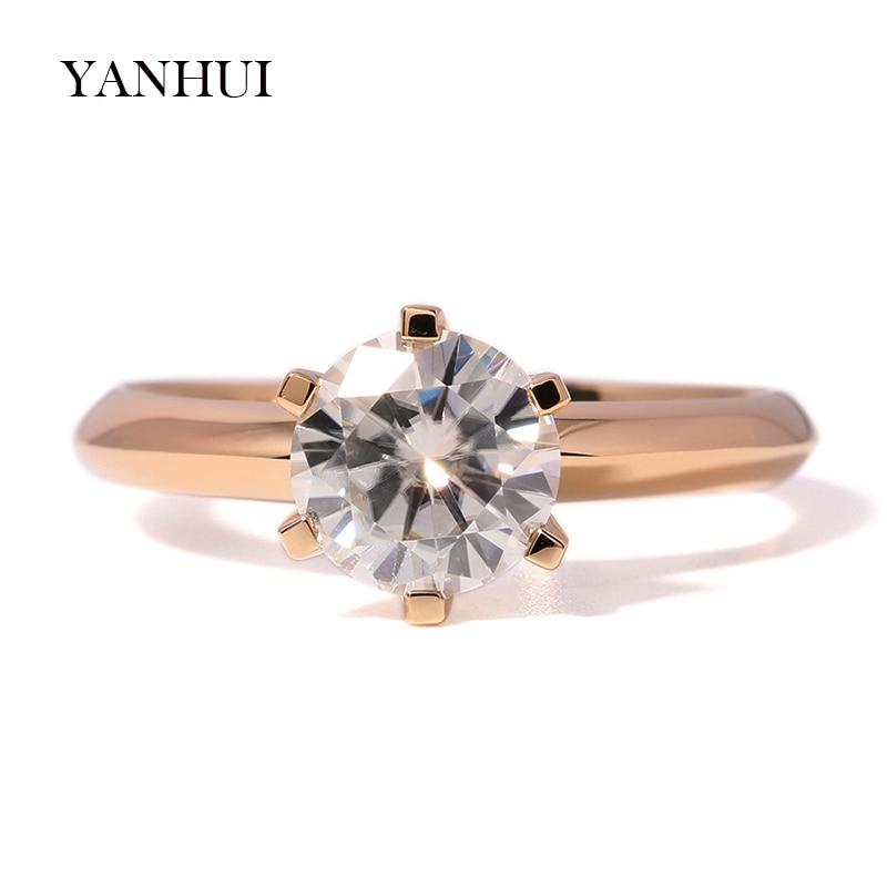 Veliki 95% OFF !! Izvorni prsten od žutog zlata od 18KRGP, 8 mm 2 - Modni nakit - Foto 2