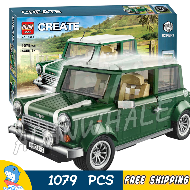 цена 1079pcs Creator Expert MINI Cooper Mk VII Mobile Cars 10568 3D Model Building Blocks Assemble Toys Bricks Compatible with Lego