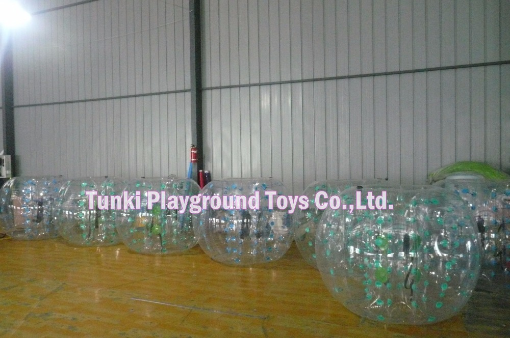 Pripučiami buferio rutuliai / PVC pripučiami burbuliukų futbolai / pripučiami buferio kūno rutuliai komandos žaidimams