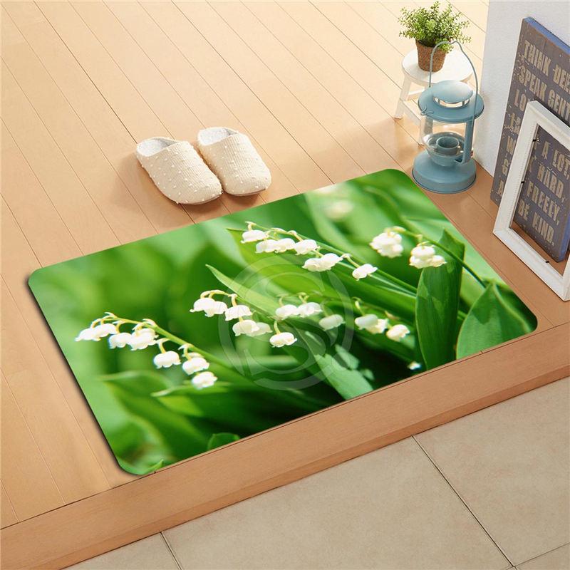 KU-48w Custom flowers orchid flowers Doormat Home Decor Door mat Floor Mat Bath Mats foot pad U-F718!!Px-48Pwe