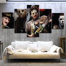 Halloween Christmas gifts Wall Art Printed Canvas Poster 5 Piece Horror Movie Friday the 13th Painting Frame Home Decor Picture happy friday панно botanic printed