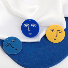 INS same small round color facial expression interesting acrylic DIY handmade jewelry earring accessories material