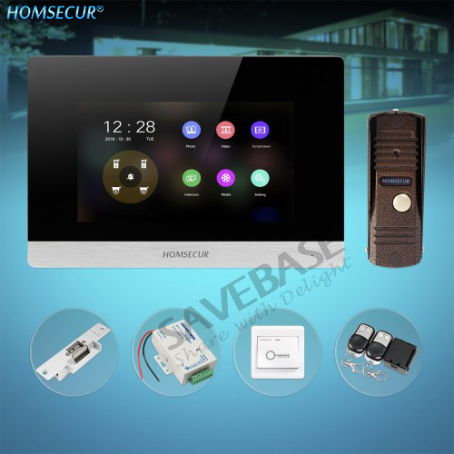 HOMSECUR 4 Wire Video&Audio Smart Doorbell with Memory Monitor for Home Security BC011HD-C+BM716HD-SHOMSECUR 4 Wire Video&Audio Smart Doorbell with Memory Monitor for Home Security BC011HD-C+BM716HD-S