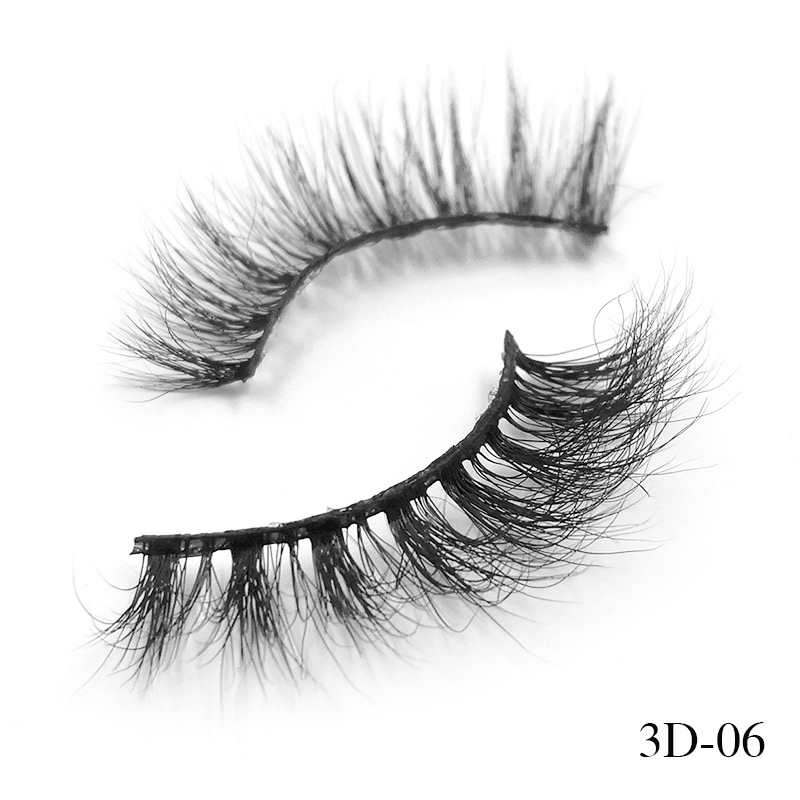 7ea91ed002e iflovedekd False Eyelashes Handmade 3D Mink Hair Lashes Natural Wispies  Dramatic Mink Eyelash Upper Lashes 3D-06 | https://inzone.dropgecko.com/shop
