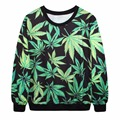 S--XL Women Men 3D Weed Leaf Hoodie Sweats Fashion Clothing Sweatshirts Casual Outfits Floral Autumn Style Outerwear Jumper