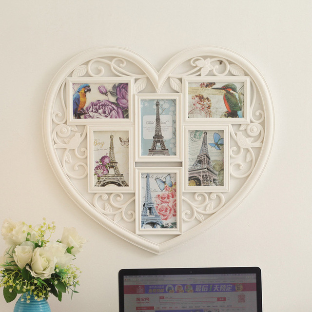 6Pcs 6Inch Combination Love Wooden Family Photo Frames Creative ...