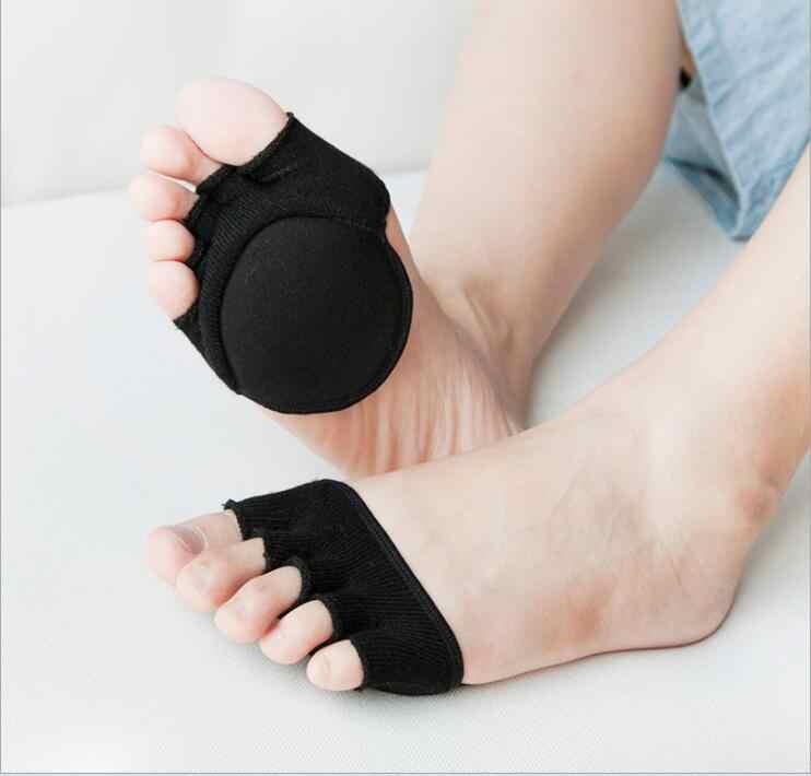 81266de242 ... Fluffy Half Palm Open Toe Socks Five Fingers Fancy Blind Women Traces  Hipster High Heel Liner
