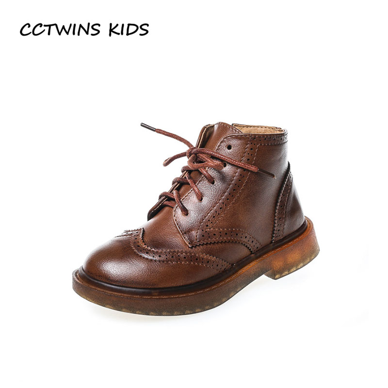 CCTWINS KIDS 2018 Autumn Boy Brand Martin Boot Children Pu Leather Shoe Baby Girl Fashion Ankle Black Boot Toddler BM011