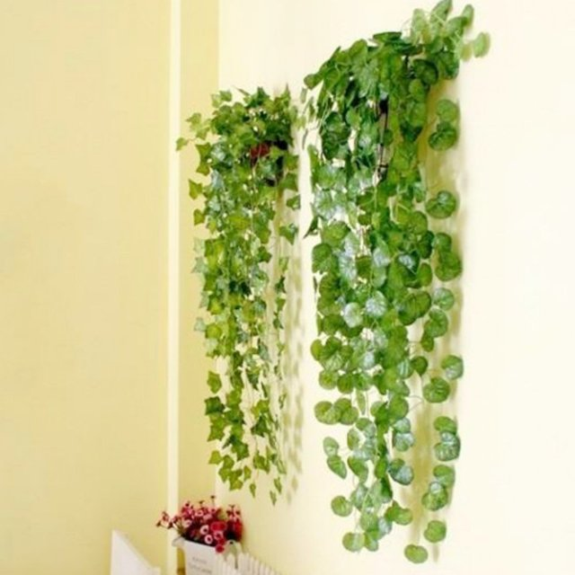 boutique home decor fake plant green ivy leaves artificial flower-in