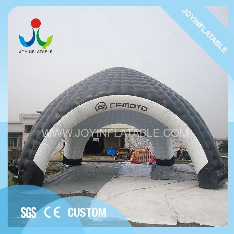 Tente gonflable géante de voiture de dômes de 10X10M pour le Camping, tente gonflable noire et blanche d'araignée avec imperméable - 3