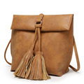 Ladies Tassel Leather Bag Women Messenger Bags Female Crossbody Bag Fashion Shoulder Bags for Women Small Clutch Handbags PP-549