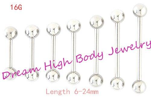 Schuhe Zunge Bar Gerade Langhantel Ring Nipple Piercing Augenbraue Tregus 1,2mm 6mm 8 10 12 14 16 24mm Länge Ohrstecker 16g Körper Schmuck