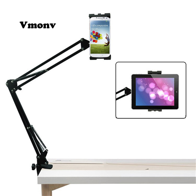 Vmonv Flexible Tablet Stand Holder for Ipad Air 1 2 Lounger Bed Desktop Tablet Mount for Ipad Mini 1 2 3 4-10 Inch Iphone Phone universal tablet holder for 8 10 inch tablet pc stand security holder for ipad 2 3 4 air samsung desktop display support