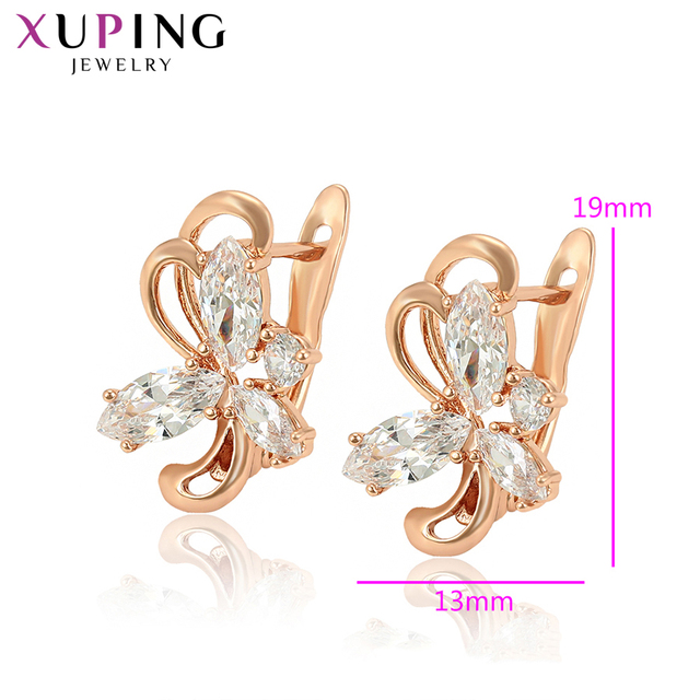 Xuping Vintage Special Popular Rose Gold-color Plated Earrings Jewelry for Women Simple Family Gifts S201.6-98248
