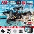 Syma x8w x8c x8 fpv rc quadcopter zangão com 4 k 1080 p full câmera hd wi-fi dron rtf 6-axis rc helicóptero vs syma x8hg x8g