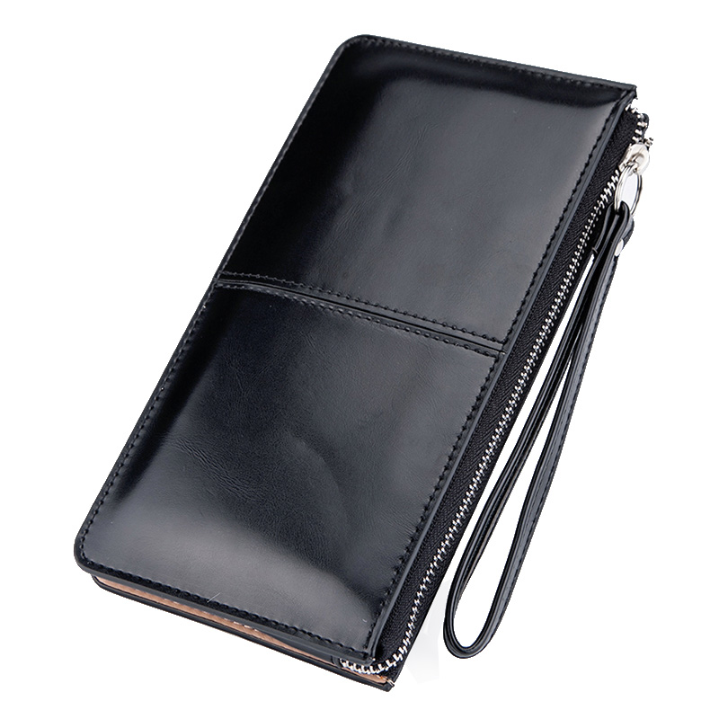 Baellerry Women Wallets Long Candy Oil Leather Wallet Day Clutch New Fashion Women's Purse Female Coin Clutch Card Holder 2018 new women wallets oil wax genuine leather high quality long design day clutch cowhide wallet fashion female card coin purse page 5