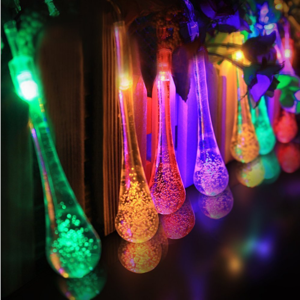 Buy 30 led solar powered water drop for Decoration exterieur halloween
