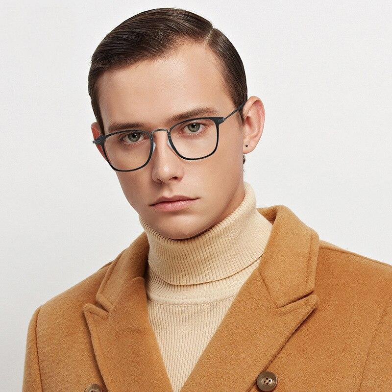 Logorela lunettes optique affaires titane lunettes cadre pour lunettes pour hommes plein jante lunettes avec 3 couleurs en option 4921