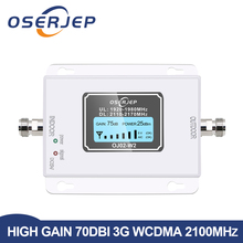 70db 3g 2100 Repeater cell phone Signal 2100MHz repeater Mobile 2100 MHz Signal Booster Amplifier LCD Mini 3G LTE WCDMA UMTS
