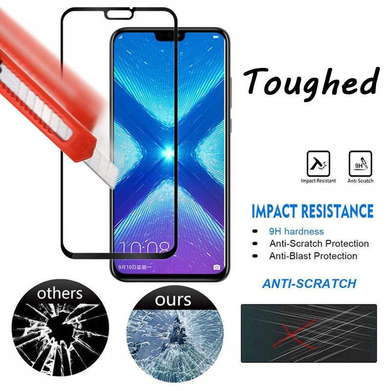 9D Pelindung Kaca untuk Huawei Y9 Y7 Y6 Prime Y5 Lite 2018 Transparansi Tinggi Pelindung Layar untuk Huawei Y6 Pro 2017