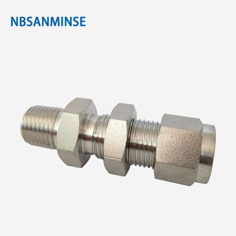 Nbsanminse 5pcs/Lot Bmc 20 06 25 08 Bulkhead Male Connector Threaded Stainless Steel Pipe Fitting 3000psi High Pressure Fitting